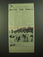 1939 Royal Air Force Ad - Short-Service Commission