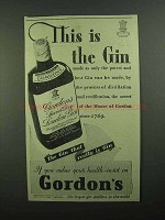 1939 Gordon's Gin Ad - This Is The Gin