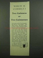 1939 Guinness Beer Ad - Which Is Correct? Two Guinness