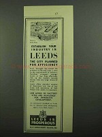 1939 Leeds Development Ad - Establish Your Industry