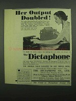 1939 Dictaphone Dictation Machine Ad - Output Doubled
