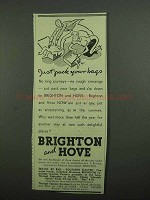 1939 Brighton and Hove Tourism Ad - Pack Your Bags