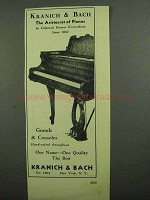 1939 Kranich & Bach Piano Ad - The Aristocrat