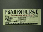 1939 Eastbourne Tourism Ad - Sunshine and Soft Air