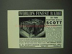 1939 E.H. Scott Philharmonic Radio Ad - World's Finest