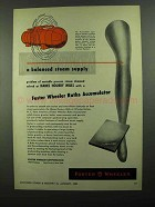 1950 Foster Wheeler Ruths Accumulator Ad - Steam Supply