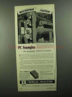 1950 Pittsburgh Corning Foamglas Insulation Ad - Moistureproof
