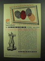 1950 Lunkenheimer Valves Ad - Are There Equivalents?