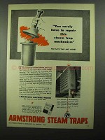 1950 Armstrong Steam Traps Ad - Rarely Repair