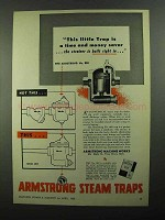 1950 Armstrong Steam Traps Ad - Time and Money
