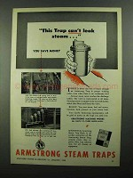 1950 Armstrong Steam Traps Ad - Can't Leak Steam
