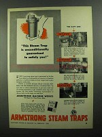 1950 Armstrong Steam Traps Ad - Guaranteed to Satisfy