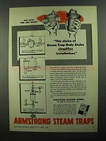 1950 Armstrong Steam Traps Ad - Simplifies