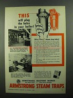 1950 Armstrong Steam Traps Ad - Plug The Holes