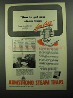 1950 Armstrong Steam Traps Ad - Get New Traps