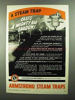 1950 Armstrong Steam Traps Ad - Mighty Big Shadow