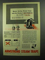 1950 Armstrong Steam Traps Ad - Strainers Built Right
