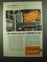 1950 Westinghouse AB-1 Circuit Breakers Ad
