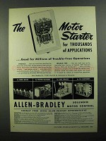 1950 Allen-Bradley Bulletin 709 Solenoid Starters Ad - Applications