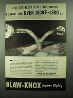 1950 Blaw-Knox Power Piping Ad - Steel Assemblies