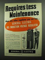 1950 G.E. IRS Induction Voltage Regulator Ad