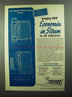 1950 Babcock & Wilcox Integral-Furnace Boiler, FH Ad