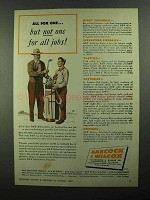 1950 Babcock & Wilcox Refractories Products Ad - For All Jobs