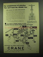 1950 Crane Cast Steel Wedge Gate Valves Ad - Can't Beat