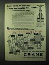1950 Crane 125-Pound Iron Body Wedge Gates Ad
