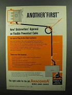 1950 Anaconda Powerduct Cable Ad - Another First