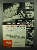 1950 Skil Drill Ad - Speeds Dozens of Jobs