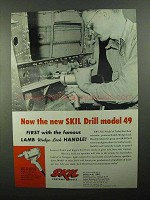 1950 Skil Drill Model 49 Ad - Lamb Wedge-Lock Handle