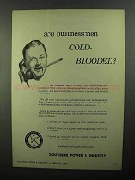 1950 Public Service Ad - Are Businessmen Cold-Blooded?