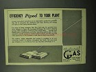 1950 Southern Natural Gas Co. Ad - Piped to Your Plant