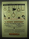 1937 Grinnell Adjustable Pipe Hangers Ad