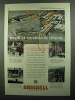 1937 Grinnell Piping Ad - Unequalled Prefabrication