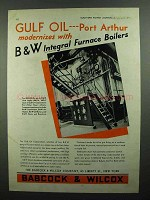 1937 Babcock & Wilcox Integral-Furnace Boilers Ad - Port Arthur