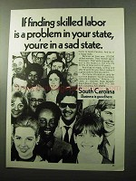 1969 South Carolina State Development Board Ad - Labor