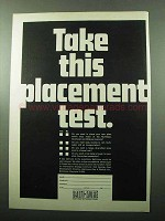 1969 Baltimore Maryland Ad - Take This Placement Test