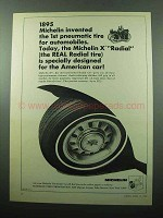 1969 Michelin X Radial Tire Ad - 1st Pneumatic Tire