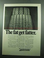 1969 Armstrong Fatso Tire Ad - The Fat Get Fatter