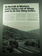 1969 Norfolk & Western Railway Ad - A Lot of Things