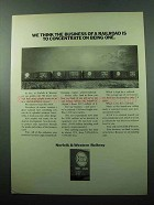 1969 Norfolk & Western Railway Ad - The Business of