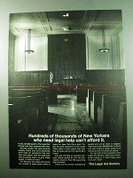 1969 The Legal Aid Society Ad - New Yorkers Need Help