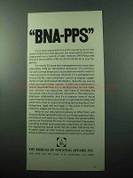 1969 The Bureau of National Affairs Ad - BNA-PPS