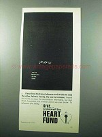 1969 Heart Association Ad - You're Whistling in Dark