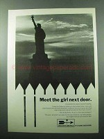 1969 Discover America Ad - Meet the Girl Next Door
