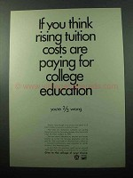 1969 Council for Financial Aid to Education Ad - Costs