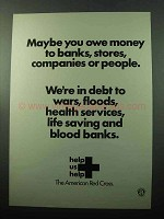 1969 The American Red Cross Ad - You Owe Money