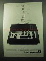 1969 Olivetti Quanta Adding Machine Ad - Details Count